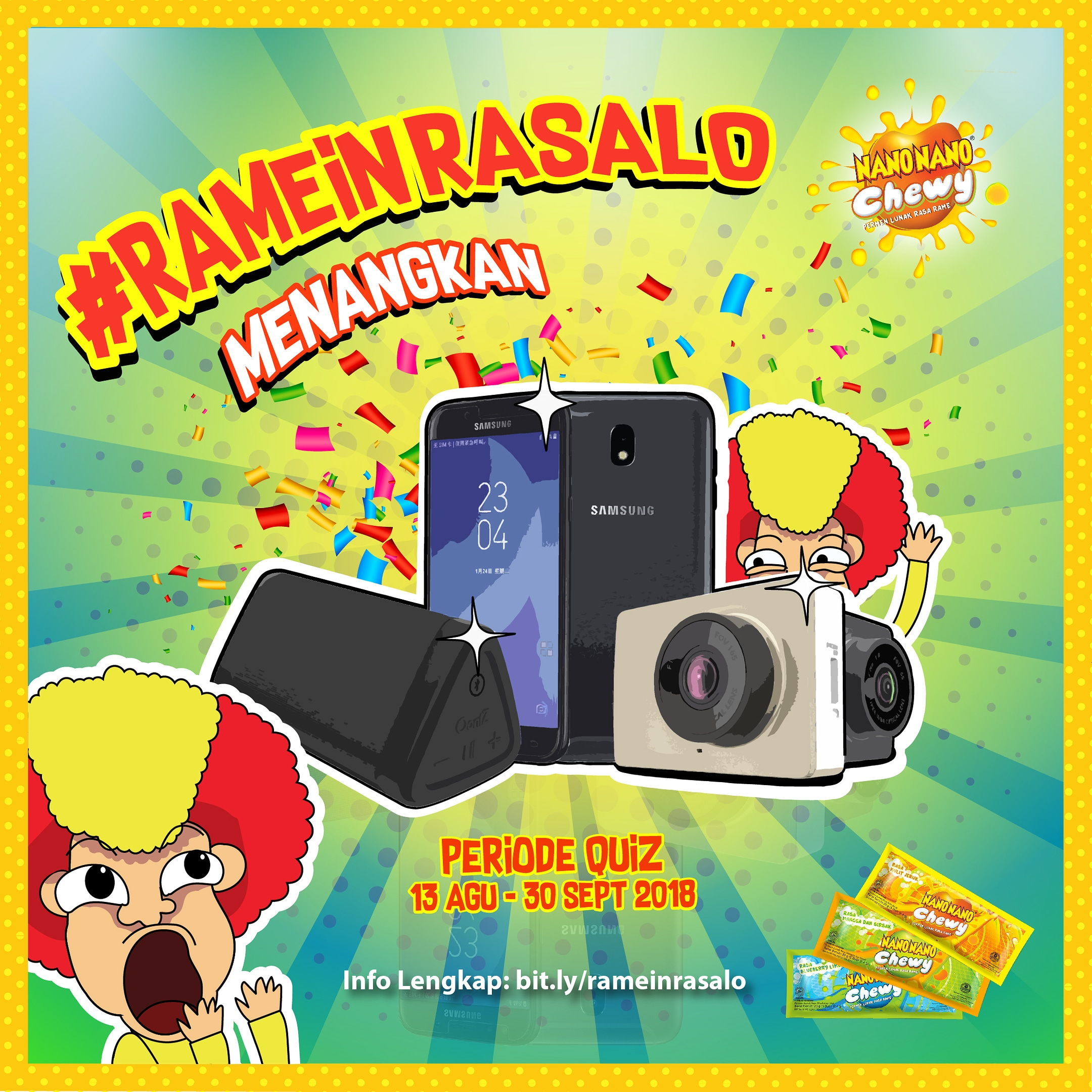 Permen Nano Nano Indonesia - Kuis #RAMEinRasaLo